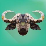 Projeto artístico do vetor da cabeça do búfalo Imagem de Stock Royalty Free
