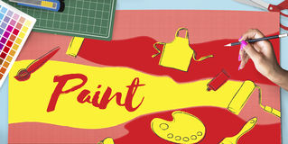 Projeto Art Artwork Concept criativo da cor Imagem de Stock Royalty Free