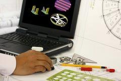 Projeto assistido por computador Imagens de Stock