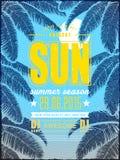 Projeto atrativo do cartaz do partido da praia do verão ilustração royalty free