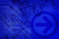 Projeto azul Imagens de Stock