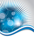 Projeto azul abstrato do fundo com reticulação Imagem de Stock Royalty Free