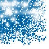 Projeto azul abstrato moderno do fundo do vetor dos triângulos ilustração royalty free