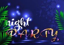 Projeto azul brilhante para um partido da noite ilustração do vetor