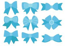 Projeto azul da curva no fundo branco ilustração stock