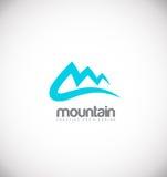 Projeto azul do ícone do logotipo da montanha ilustração stock