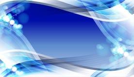 Projeto azul do fundo abstrato Fotos de Stock