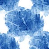 Projeto azul do fundo dos cursos da escova do teste padrão sem emenda da aquarela Imagem de Stock