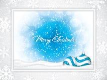 Projeto azul do Natal com bolas ilustração stock