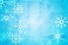 Projeto azul do teste padrão do floco da neve Foto de Stock