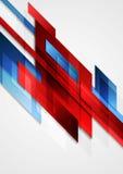 Projeto azul e vermelho do movimento do vetor da olá!-tecnologia Imagem de Stock Royalty Free