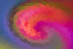 Projeto azul lilás do inclinação do rosa colorido monogramous abstrato do fragmento do caleidoscópio do efeito do fundo ilustração royalty free