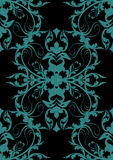 Projeto barroco azul no preto Fotos de Stock Royalty Free