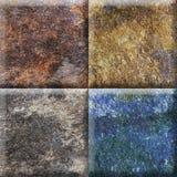 Projeto bege natural para azulejos, quadrado rústico do quadrado da mandala da cor da mandala imagens de stock