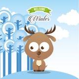 Projeto bem-vindo do inverno ilustração royalty free