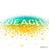 Projeto bonito da praia do verão para a disposição do molde do cartão Imagem de Stock