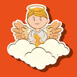 projeto bonito do anjo ilustração stock