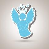 projeto bonito do anjo ilustração do vetor