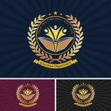 Projeto bonito do logotipo da educação ilustração stock