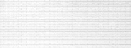 Projeto branco da bandeira da textura da parede de tijolo Fundo de tela panorâmico abstrato vazio para apresentações Muito espaço Imagens de Stock