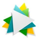 Projeto brilhante abstrato do logotipo do triângulo ilustração royalty free