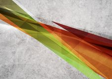 Projeto brilhante das formas da geometria Grunge do vetor Fotografia de Stock