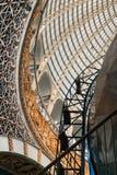 Projeto a céu aberto de uma abóbada feita do vidro e do metal Fotos de Stock Royalty Free