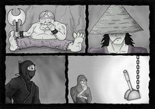 Projeto cômico da página ilustração royalty free