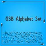 Projeto caixa do alfabeto de USB Ilustração do Vetor