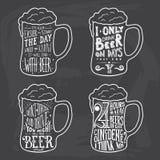 Projeto caligráfico da cerveja do grunge do vintage Imagem de Stock Royalty Free