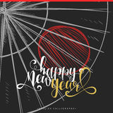 Projeto caligráfico moderno Ano novo chinês Grupo da caligrafia da rotulação Fotografia de Stock Royalty Free