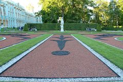 Projeto Catherine Park da paisagem Cidade de Pushkin fotografia de stock