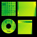 Projeto Cd do verde da tampa Fotos de Stock Royalty Free