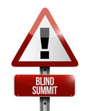 Projeto cego da ilustração do sinal de aviso da cimeira ilustração stock
