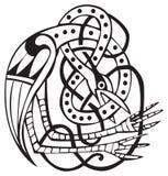 Projeto celta com linhas atadas de um pássaro ilustração do vetor