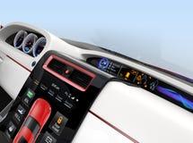 Projeto Center do console da multi-informação para o carro bonde inteligente ilustração royalty free