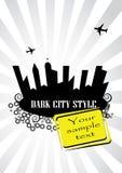 Projeto cinzento da cidade Imagem de Stock