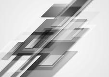 Projeto cinzento do movimento do vetor da olá!-tecnologia Foto de Stock