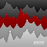 Projeto cinzento e vermelho escuro do gráfico para a disposição dos trabalhos Fotos de Stock