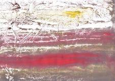 Projeto cinzento vermelho da aquarela foto de stock