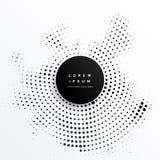 Projeto circular do fundo dos pontos da reticulação ilustração do vetor