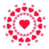 Projeto circular do teste padrão do coração ilustração do vetor