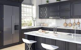 Projeto clássico da cozinha Imagens de Stock Royalty Free