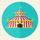 Projeto clássico do ícone da tenda do circus, ilustração do vetor Fotos de Stock