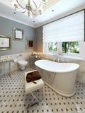 Projeto clássico do banheiro brilhante Fotos de Stock