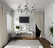 Projeto clássico do interior Fotografia de Stock