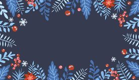 Projeto colocado liso do Natal com caixas de presente Elemento do Natal e do ano novo, cartaz para seu projeto Grande para o cart imagens de stock royalty free