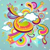 Projeto colorido ilustração stock
