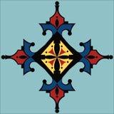 Projeto colorido abstrato do broche e da colar do otomano ilustração royalty free