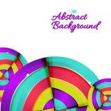 Projeto colorido abstrato do fundo da curva do arco-íris. Fotografia de Stock Royalty Free